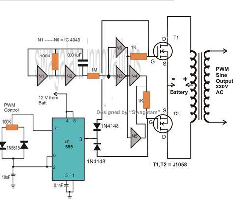 make 400 watt mosfet sine wave inverter circuit