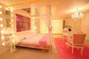 Platform Canopy Beds - girly room