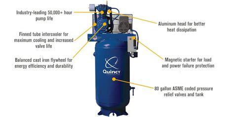 quincy qt 7 5 splash lubricated reciprocating air compressor 7 5 hp 230 volt 1 phase 80