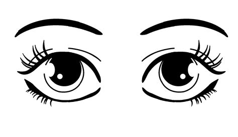 coloring pages of two eyes eye clipart cute cartoon pencil and in color eye clipart