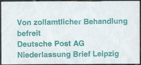 Reklamation Brief Deutsche Post Philaseiten De Gestempelte Handschriftliche Oder Postvermerke Als Label Auf Belegen