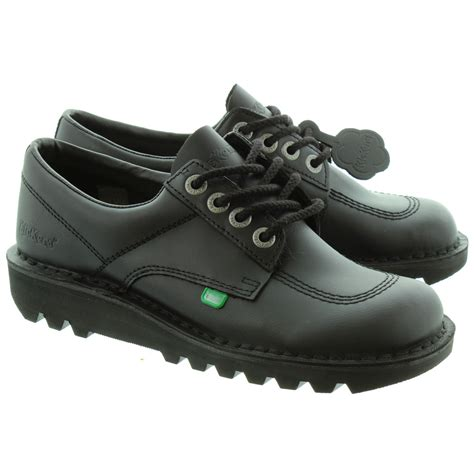 shoes kickers kickers kick lo shoes in black in black