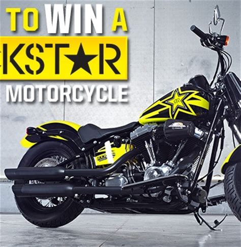 Motorcycle Giveaway - rockstar custom motorcycle sweepstakes rockstar energy drink