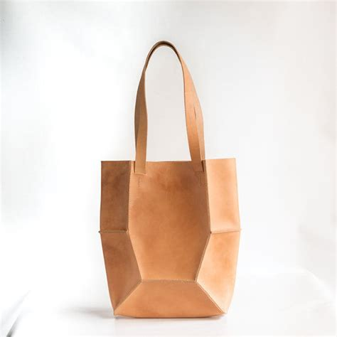 Gustto Estiva Leather Handbag by Chic Origami Carryalls Ribbed Leather Bag