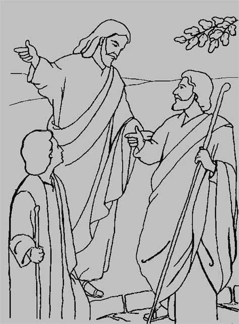 coloring page of jesus on the road to emmaus the 542 best images about kinderkerk idees on