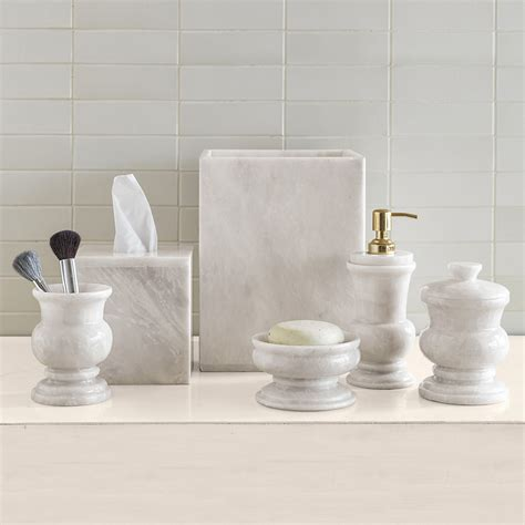 marble bathroom accessories sets white marble bath accessories gump s