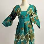 Sjgltqc Atasan Biru Baju Babydoll Baju Bigsize Atasan Lengan Panjang batik cantik collections butik shop tas pesta