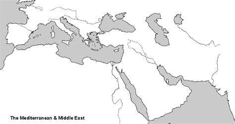 The Mediterranean And Middle East Chapter 3 Outline by Washburn Hi 354 Fall 2005 1st Map List