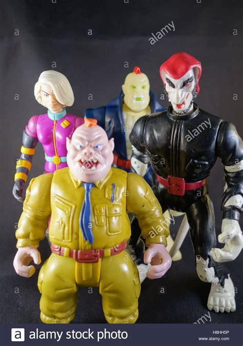 figure 90s 90s captain planet villain figures stock photo