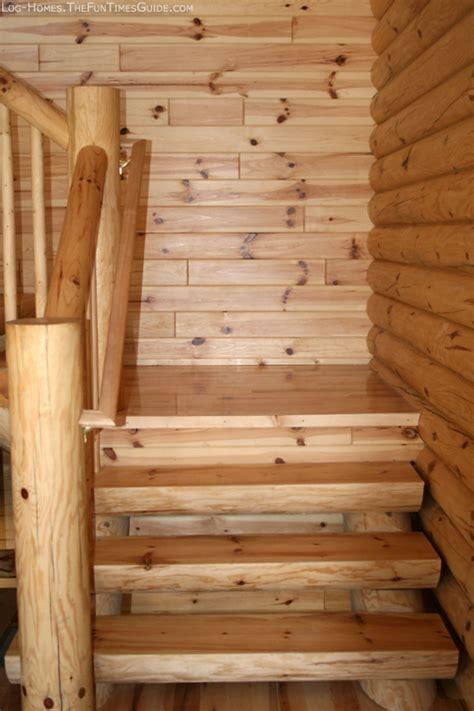 chose  log staircase   log cabin  log