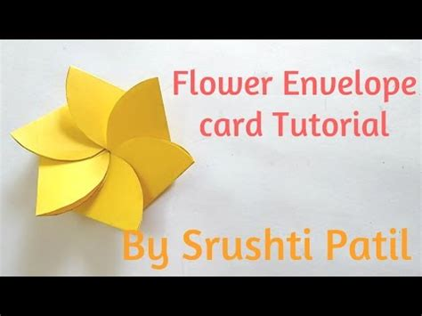 flower envelope card template flower envelope card tutorial by srushti patil