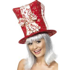 adults red christmas gift box xmas present hat