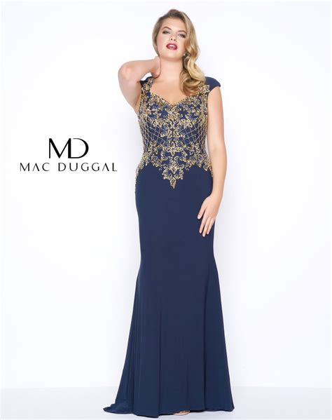 Mac Formal Black Collection by Plus Size Formal Gown Mac Duggal 77001f