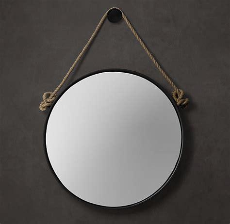 Ballard Designs Drying Rack round rope mirror