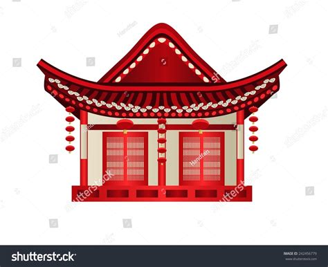 chinese house music chinese house architecture design stock vector illustration 242456779 shutterstock