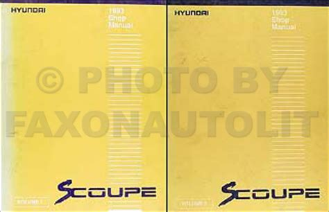 service manual free repair manual 1993 hyundai scoupe service manual pdf automotive repair 1993 hyundai scoupe repair shop manual original 2 volume set