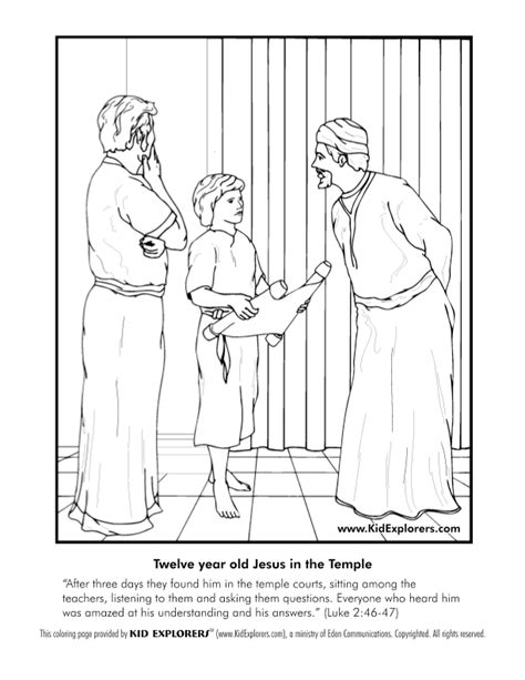 coloring pages boy jesus in the temple 1000 images about bible story jesus in temple on