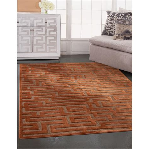 sams international napa maze rust 5 ft 3 in x 7 ft 6 in