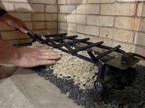 gas fireplace lava rocks gas fireplace basics diy electrical wiring how tos