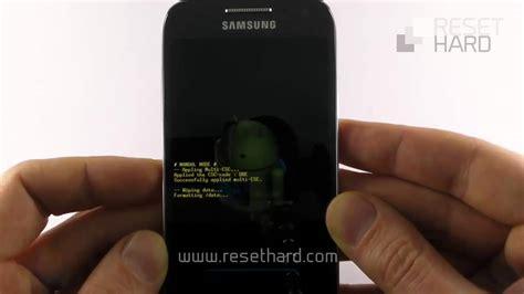 reset samsung mini s4 hard reset samsung galaxy s4 mini how to youtube