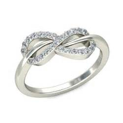 Infinity Engagement Rings Infinity Design Engagement Ring In White