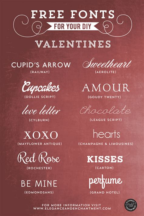 valentines fonts free fonts valentines day inspiration diy