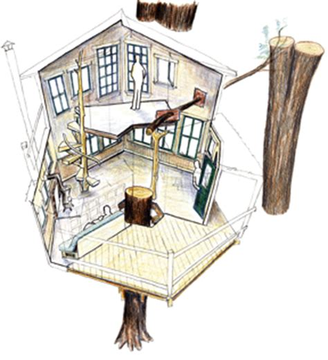 hexagon tree house plans construction images treehouse chronicles