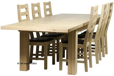 solid oak farmhouse dining table made to measure solid oak farmhouse dining table from