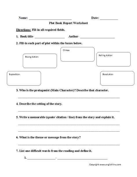 esl book report free worksheet identifying story elements worksheet