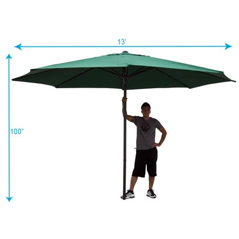 13 ft patio umbrella 13 ft outdoor patio market umbrella