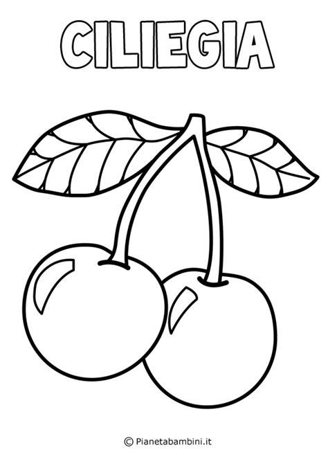 disegni da colorare fiori e frutta disegni di frutta da stare e colorare pianetabambini it