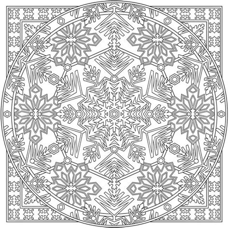 advanced snowflake coloring pages creative haven snowflake mandala colouring book dover