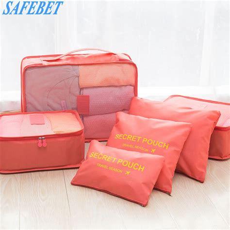 Koper Set Fashion Waterproof safebet 6 pcs travel portable storage bag set fashion waterproof multifunction clothing shoes