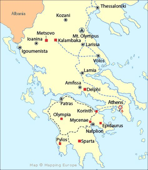 map of mainland europe essential info for greece greece trip
