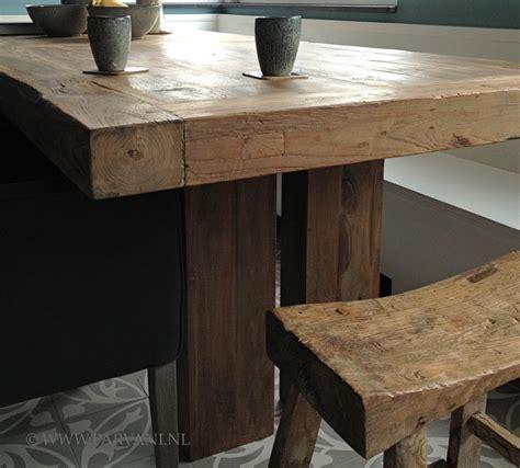 stijgerhouten eettafel parvani meubelen