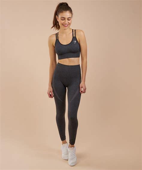 Gymshark Gift Card - gymshark high waisted seamless leggings black marl 4