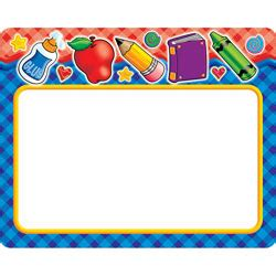 printable name tags office depot scholastic name tags school tools gingham 4 x 9 14 by