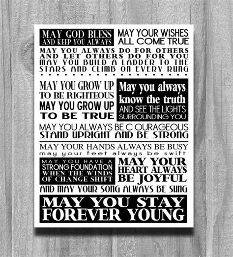 forever full house lyrics forever young print song lyrics bob dylan by printsbychristine