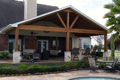 Texas Custom Patios Gable Roof Patio Cover In Remington Trails Katy