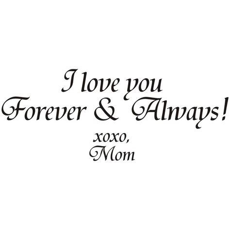 I You Forever And Always i you forever and always xoxo vinyl quote