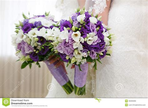 Wedding Flower Bunch by Wedding Bunch Of Flowers In The Stock Photo