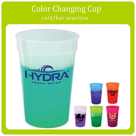 color cup temperature sensor color changing plastic cup with custom