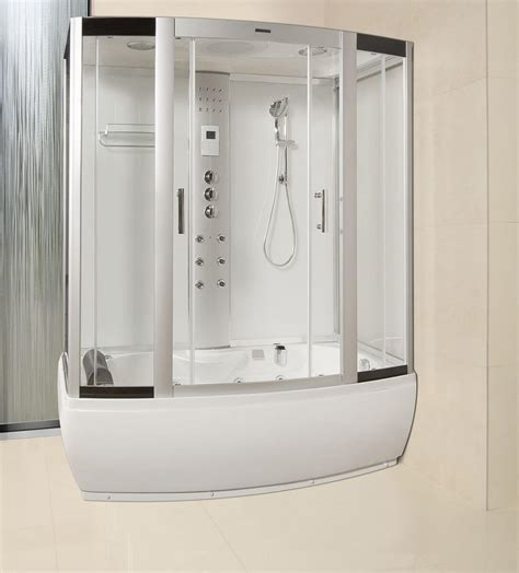 shower cabin lisna waters lww3 1700mm x 900mm black steam shower cabin whirlpool and airspa bath black