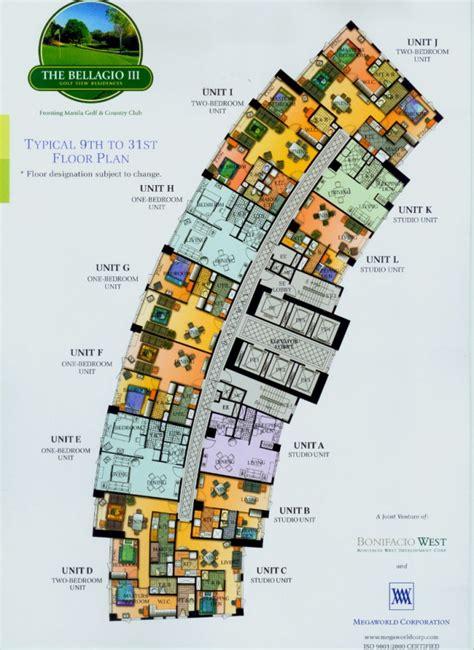 bellagio hotel layout map manila bonifacio global city megaworld the bellagio tower