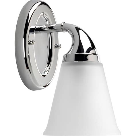 Chrome Vanity Light Fixtures Progress Lighting Lahara Collection 1 Light Chrome Vanity