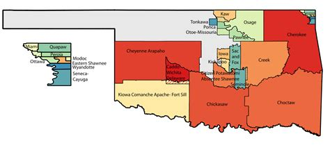 american tribes in oklahoma by map list of american tribes in oklahoma