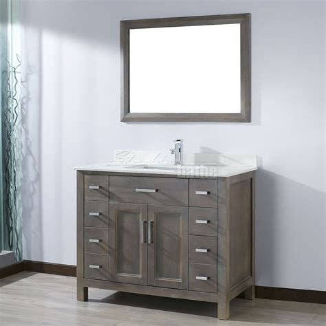 kelly 42 inch french gray finish bathroom vanity http