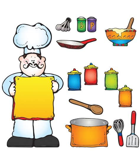 cooking board what s cooking bulletin board set grade pk 5 carson