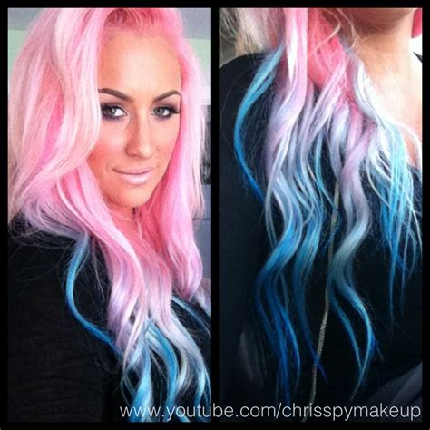 how to blend blue and pink hair dye yahoo answers