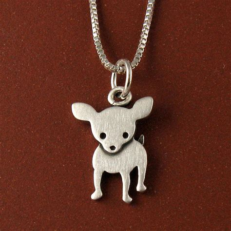 chihuahua necklace by stick jewelry all